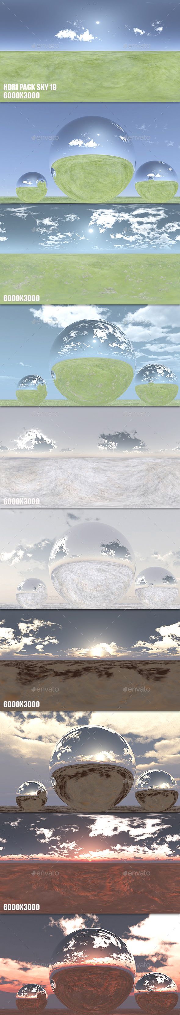 HDRI Pack Sky 19 - 3DOcean Item for Sale