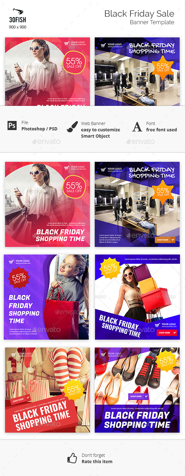 GraphicRiver Black Friday Sale Banner 20967227