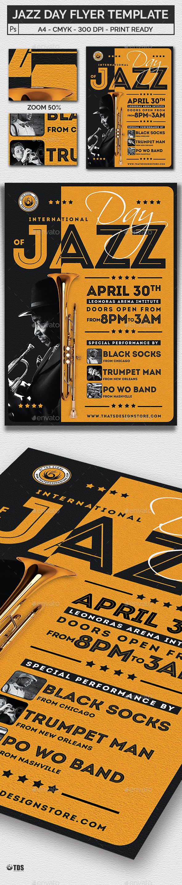 GraphicRiver Jazz Day Flyer Template 20967287
