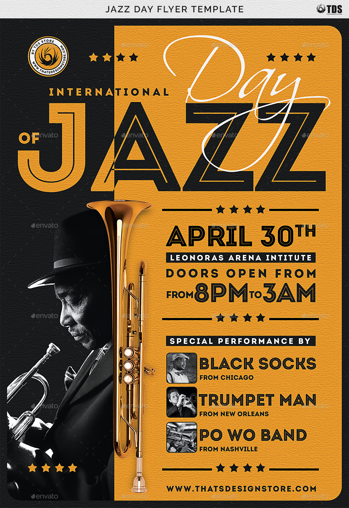 Jazz Day Flyer Template By Lou606 Graphicriver