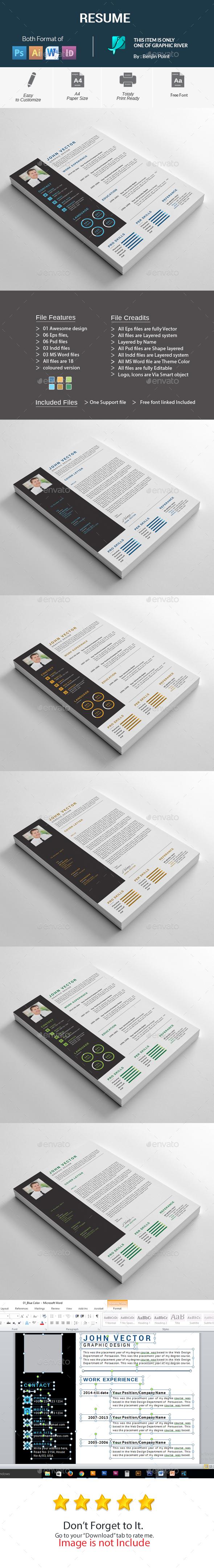 GraphicRiver Resume 20967720