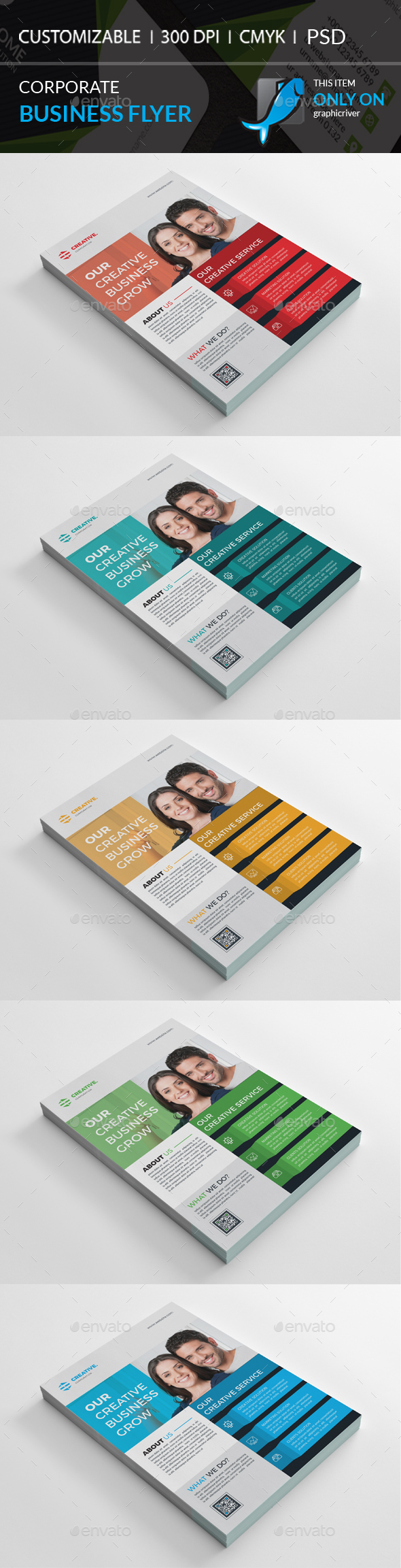 GraphicRiver Corporate Flyer 20967789