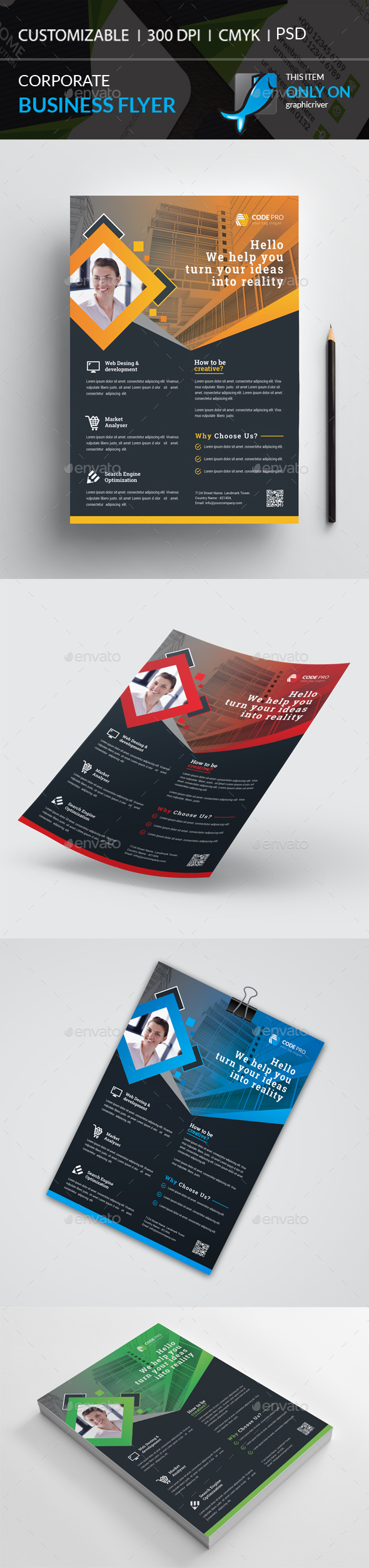GraphicRiver Corporate Flyer 20967824
