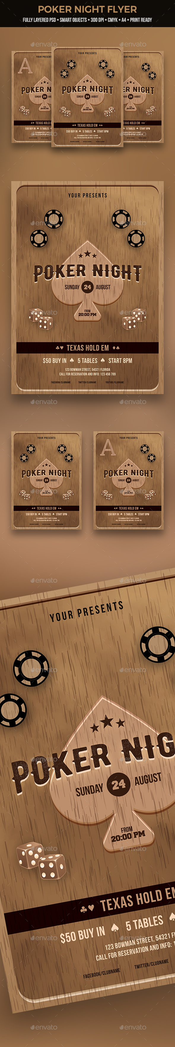 GraphicRiver Poker Night Flyer 20968053