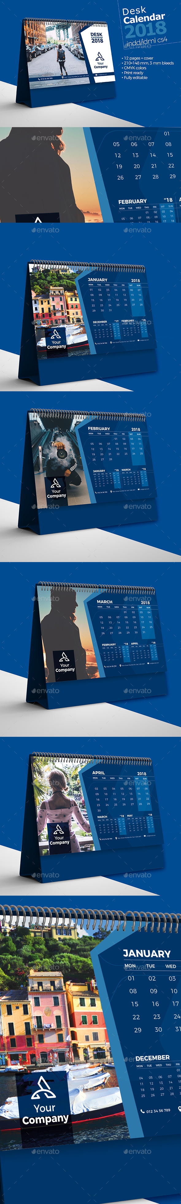 GraphicRiver Desk Calendar 2018 20968084
