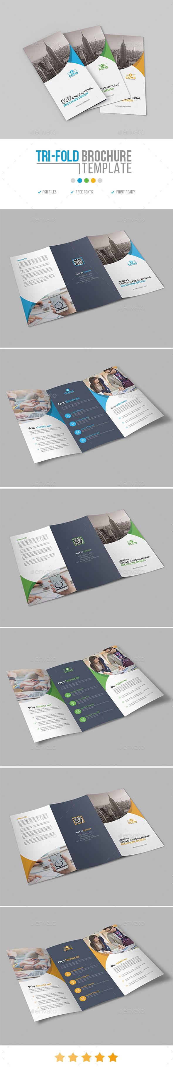 GraphicRiver Corporate Trifold Brochure Template 22 20968088