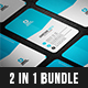 2 in 1 Business Card Bundle - GraphicRiver Item for Sale