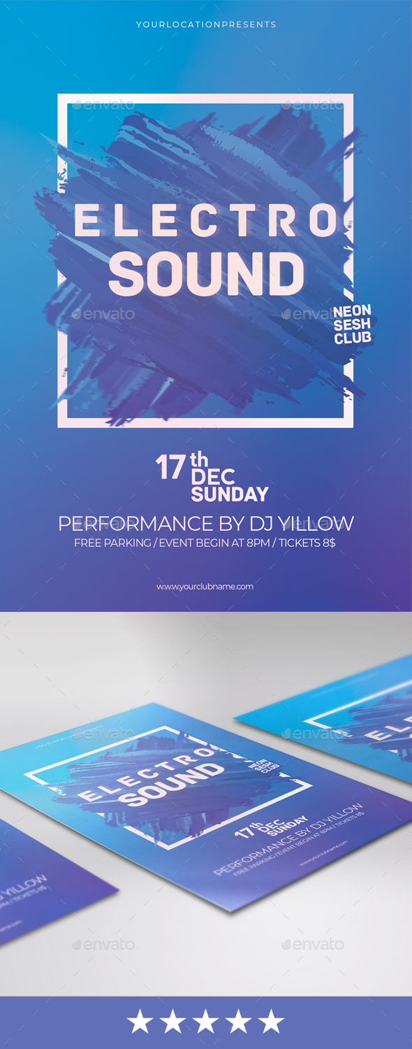 GraphicRiver Electro Party Flyer 20968299