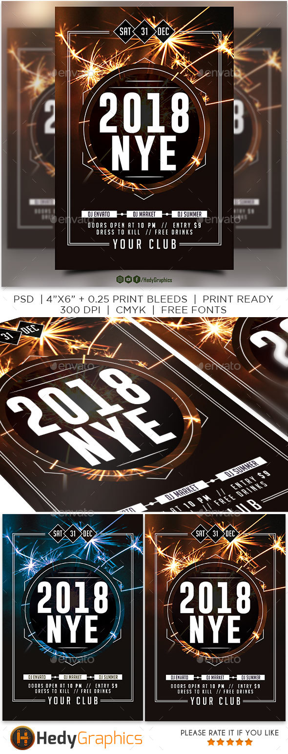 2018 Nye Flyer - Events Flyers