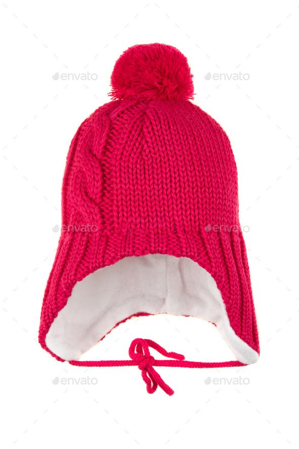 Children's winter hat - Stock Photo - Images