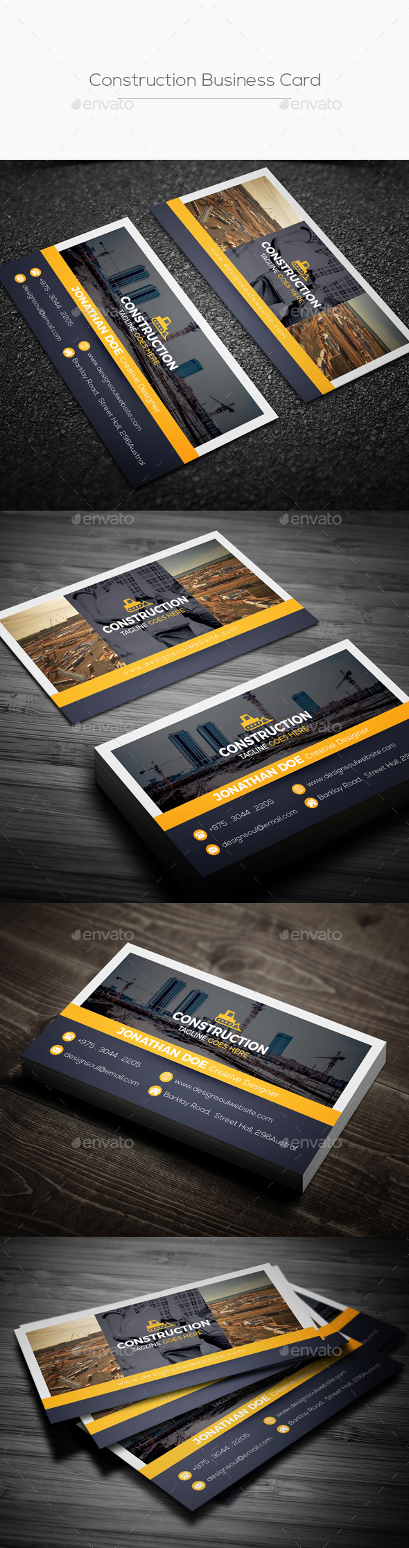 GraphicRiver Construction Business Card 20968321