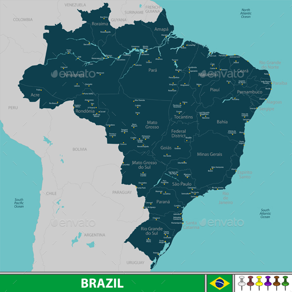GraphicRiver Map of Brazil 20968380