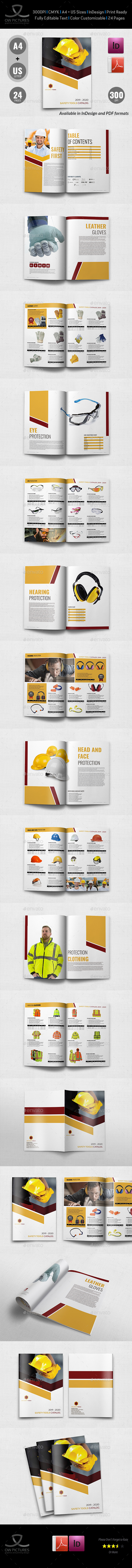 GraphicRiver Safety Tools Catalog Brochure Template 24 Pages 20968413