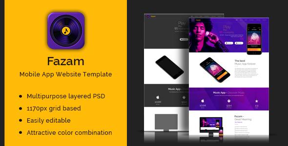 Fazam mobile app website template by designovative themeforest 01 app landing pageg maxwellsz