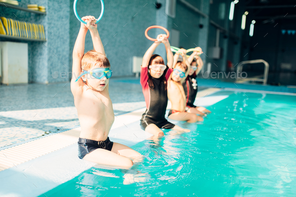Children at pool - Stock Photo - Images