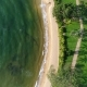 Aerial View From the Top of Hotel and Sandy Beach That Washing By Sea Waves in Sri Lanka - VideoHive Item for Sale