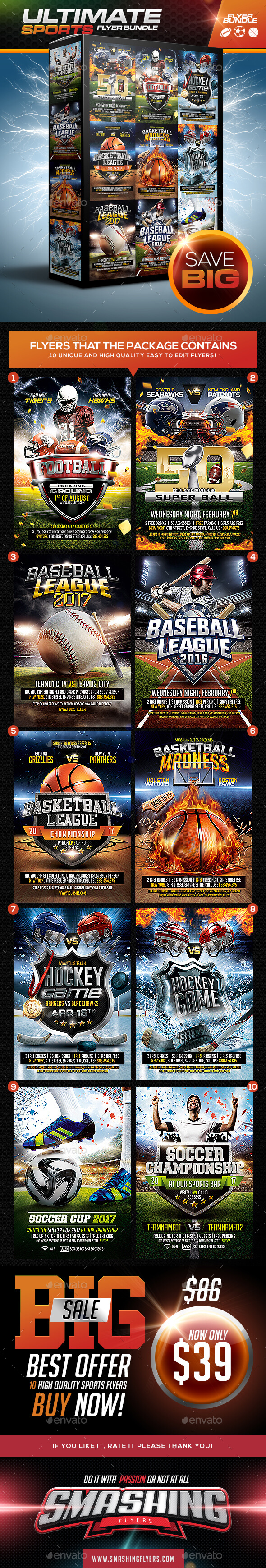 Ultimate Sports Flyer Template Bundle - Sports Events
