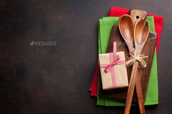 Christmas cooking table - Stock Photo - Images