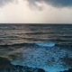 Aerial of Sea Leaving in the Horizon Under the Cloudy Sky in Sri Lanka - VideoHive Item for Sale