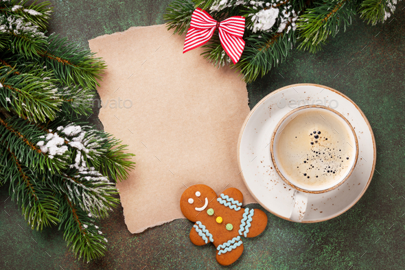 Piece of paper for christmas wishes - Stock Photo - Images