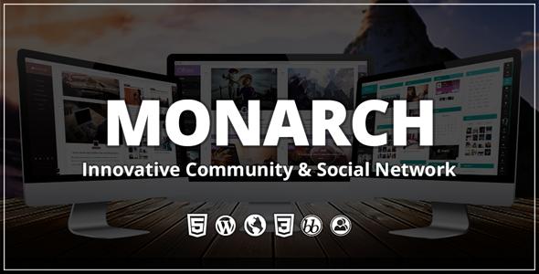 Monarch - Innovative WordPress Community Theme - BuddyPress WordPress