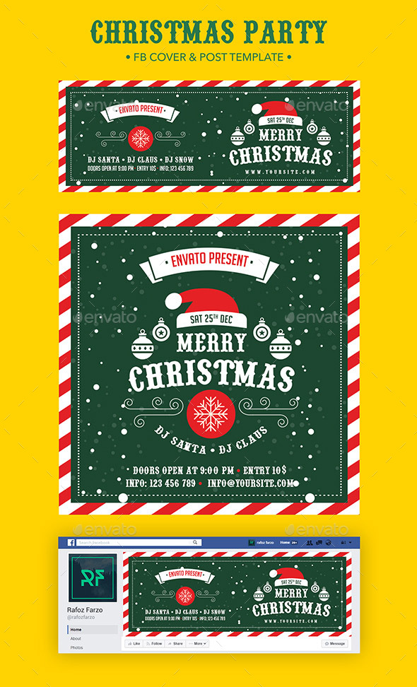 GraphicRiver Christmas Party Facebook 20969052