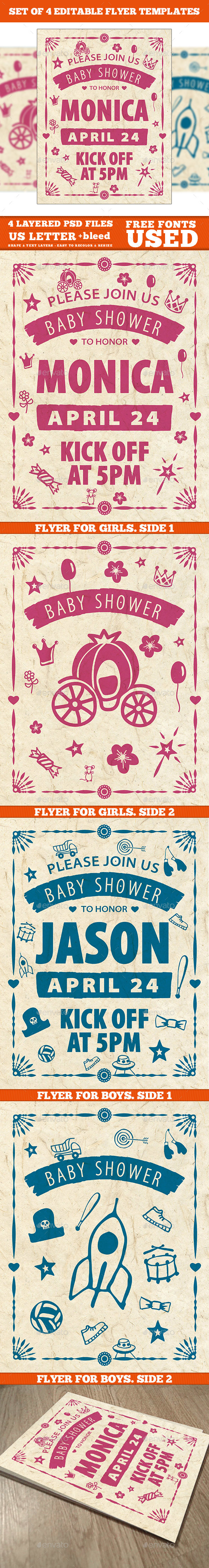 GraphicRiver Baby Shower Invitation Template 20969090
