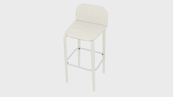 3DOcean Muuto Visu Bar Stool 20969179