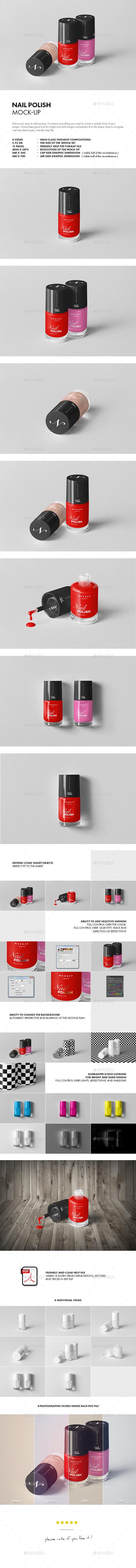 GraphicRiver Nail Polish Mock-up 20969276