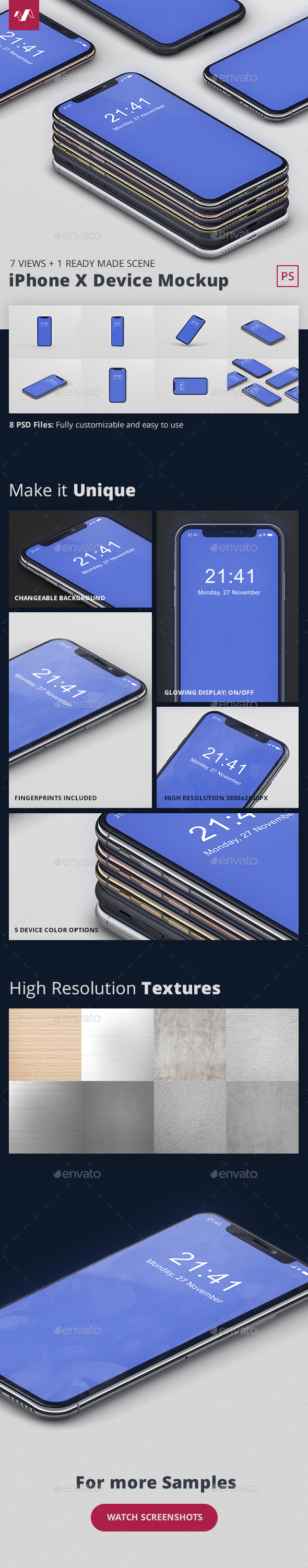 GraphicRiver Phone X Mockup 20969337