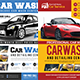 Car Wash Flyers Bundle