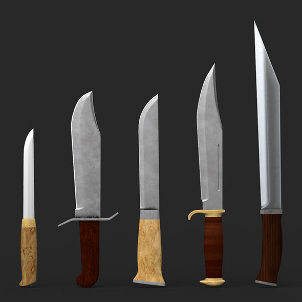 3DOcean Bowie Knife Collection 20969433