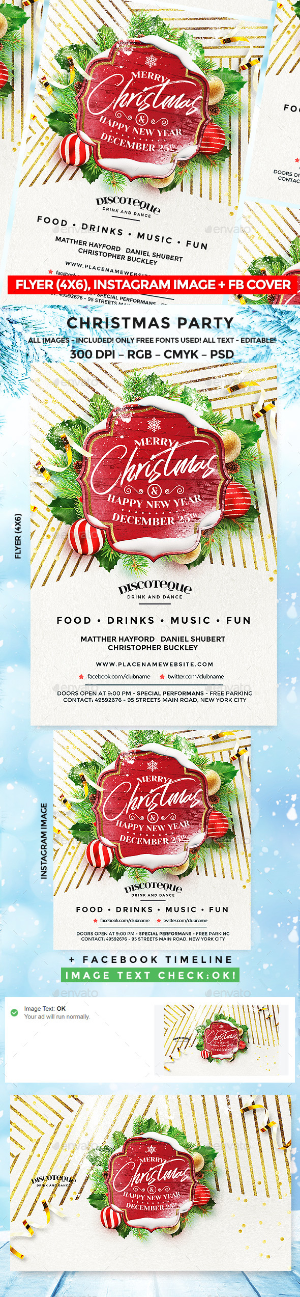 GraphicRiver Christmas Party Flyer 20969657