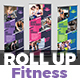 Fitness Roll-Up Banner Template - GraphicRiver Item for Sale