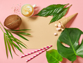 holidays background with tropical leaves - PhotoDune Item for Sale
