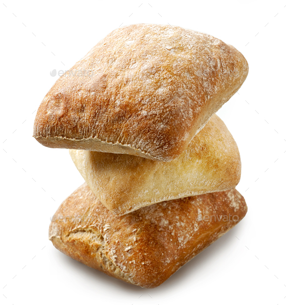 freshly baked bread buns - Stock Photo - Images