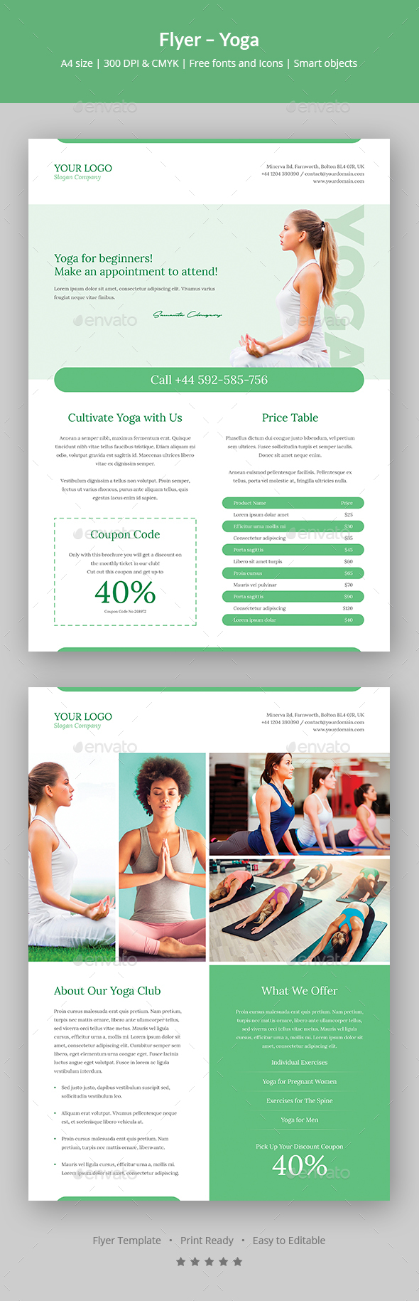 Flyer – Yoga - Sports Events