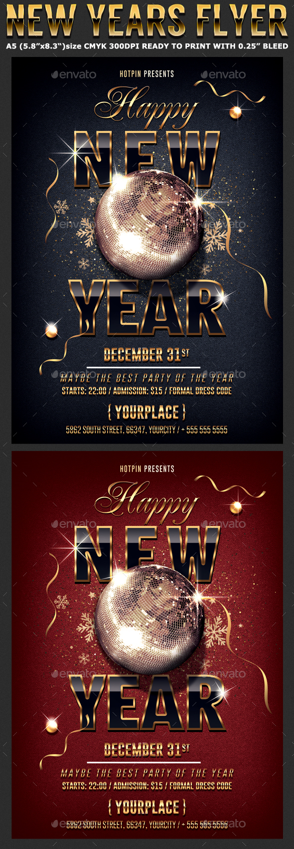 GraphicRiver Classy New Year Party Flyer Template 20970229