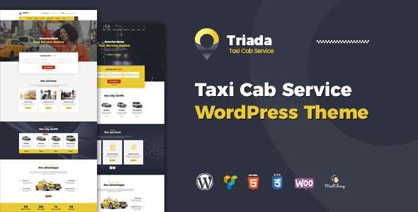 Triada - Taxi Service Company WordPress Theme
