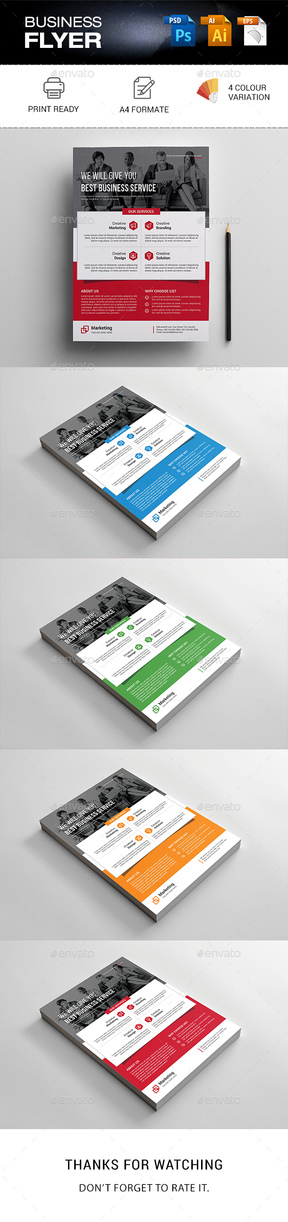 GraphicRiver Business Flyer 20970320