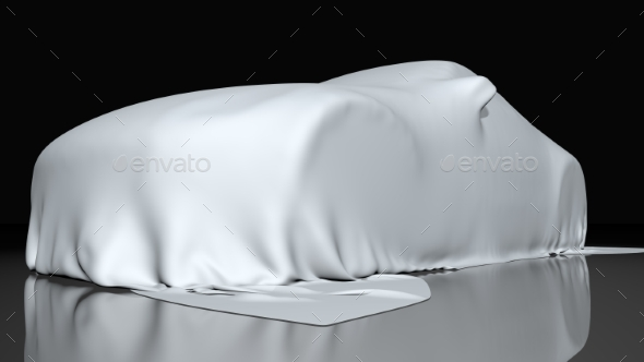 GraphicRiver Car Covered with a Cloth 3D Render 20970465