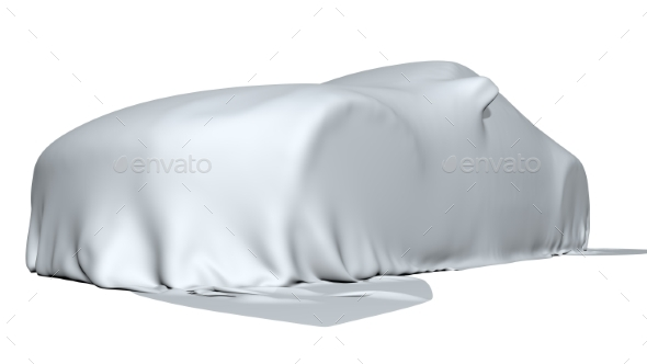 GraphicRiver Car Covered with a Cloth Isolated 3D Render 20970474