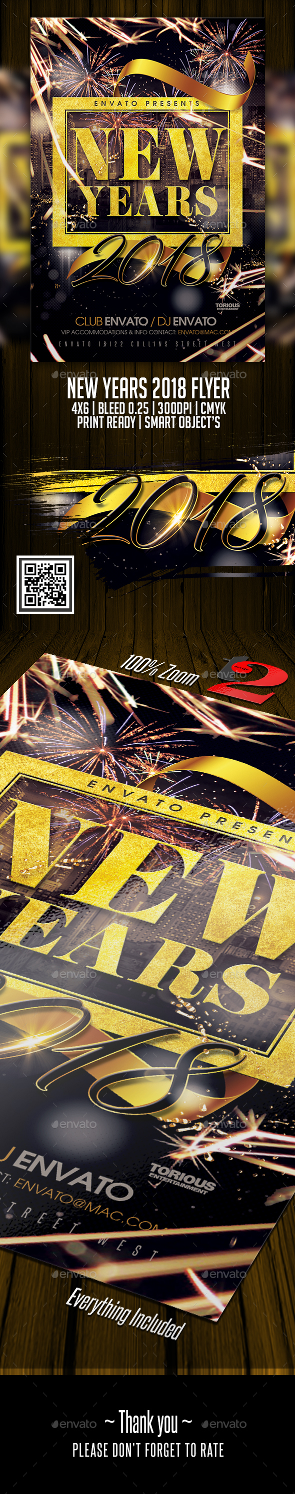 New Years 2018 Flyer Template - Clubs & Parties Events