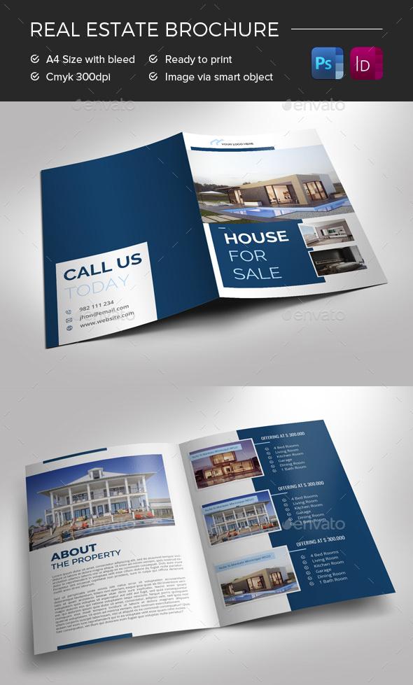 Bifold Real Estate Brochure - Commerce Flyers