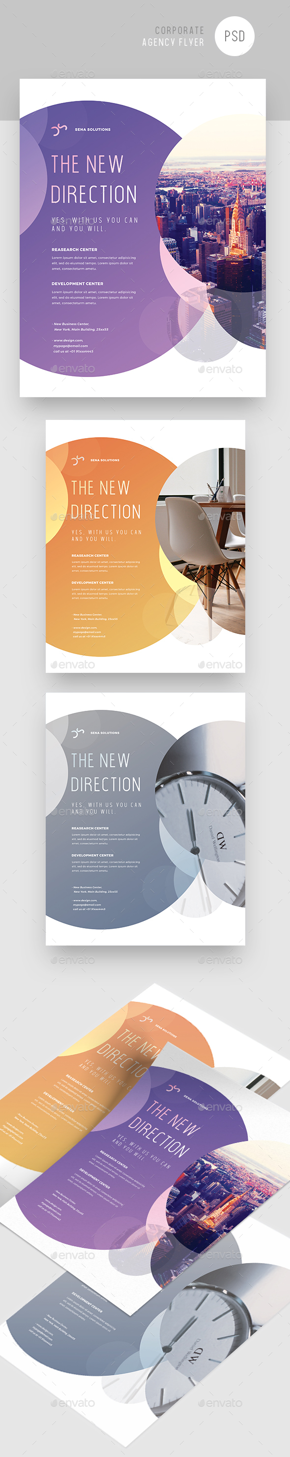 GraphicRiver Creative Colorful Corporate Flyer 20970893