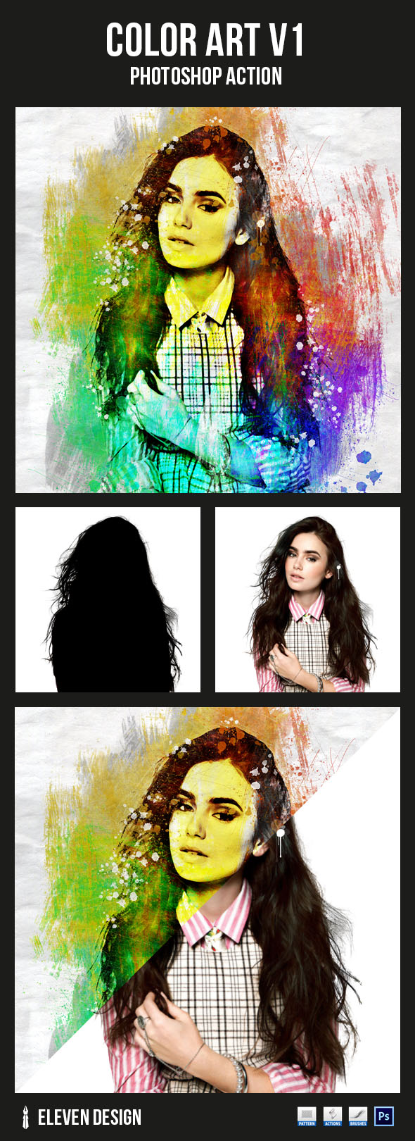 GraphicRiver Color Art v1 Photoshop Action 20970916