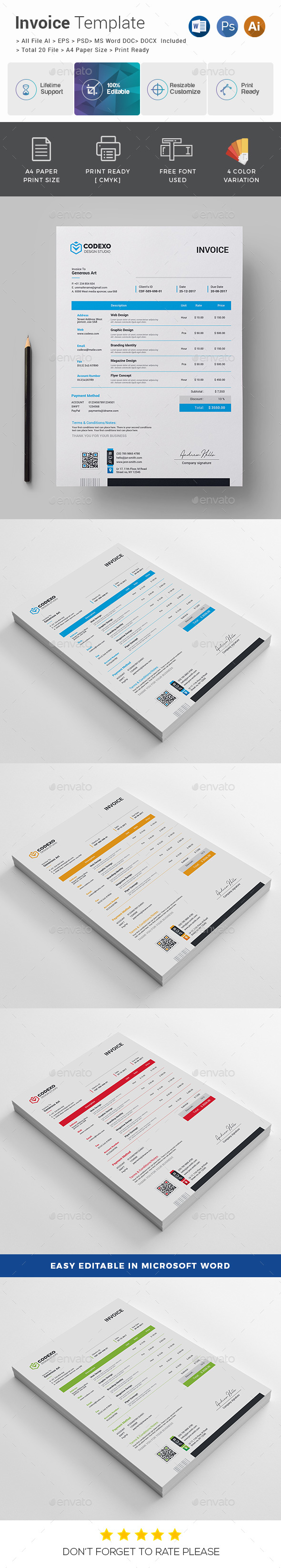 GraphicRiver Invoice 20970949
