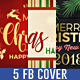 5 Christmas Face Book Cover