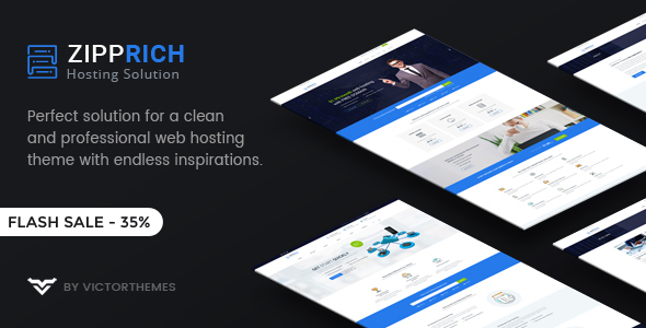 Zipprich - Web Hosting & WHMCS WordPress Theme - Hosting Technology