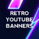3 Retro Youtube Banners - GraphicRiver Item for Sale